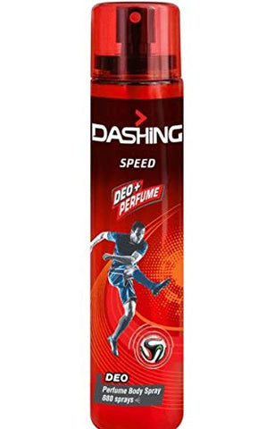 DASHING Deo Pefume Body Spray Speed 120ml -Formulated with long-lasting, masculine DASHING fragrances it ensures you're feeling fresh and smelling great throughout the day.