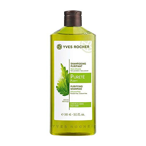 Botanical Hair Care PURIFYING SHAMPOO for OILY HAIR by Yves Rocher (10.1 fl. oz. / 300 ml) IMPORT