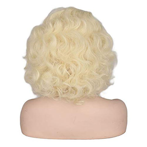 Marilyn Monroe Wig Golden European And American Women'S Short Curly Hair