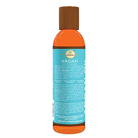 OKAY | Argan Hot Oil Treatment | For All Hair Types & Textures | Restores, Smooths Hair & Eliminates Frizz | With Palm, Avocado, Grapeseed, Jojoba, Carrot Seed & Apricot Oil | 100% Natural | 6 Oz