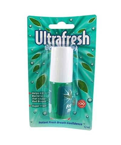 #MG ULTRAFRESH Breath Spray Fresh Mint 12ml -Helps prevent bad breath and leaves your mouth feeling instantly clean and minty fresh