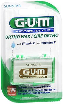 GUM Orthodontic Wax with Vitamin E - Each, Pack of 4