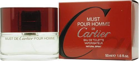 Must De Cartier By Cartier For Men, Eau De Toilette Spray, 3.4-Ounce Bottle