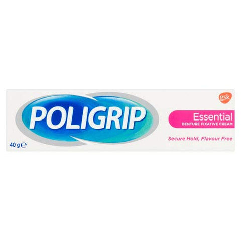 Super Poli-Grip Essential Denture Fixative Cream, 40 g