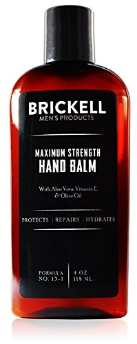 Brickell Men's Maximum Strength Hand Lotion For Men, Natural And Organic Fast Absorbing Hand Lotion