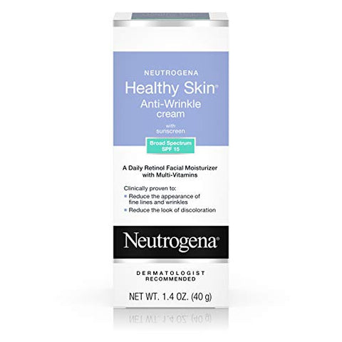 Neutrogena Healthy Skin Anti-Wrinkle Cream Spf 15, 1.4 oz (Pack of 3)