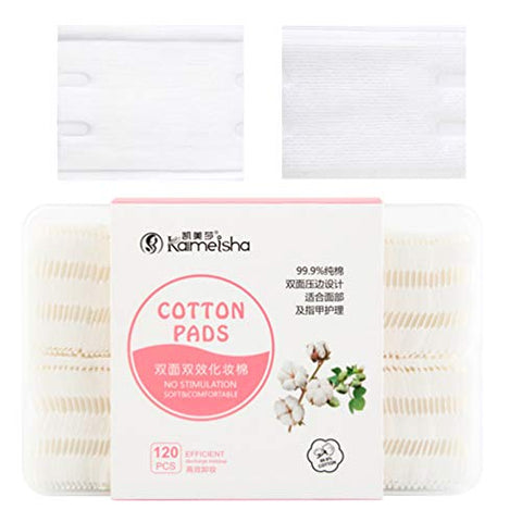 Beaupretty Soft Cotton Rounds Absorbent Textured Cotton Pads Lint Free Cotton Rounds for Cosmetic Nail Personal Care