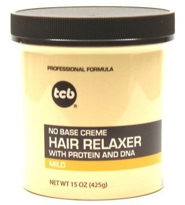 TCB Hair Relaxer 15 oz. Mild Jar (3-Pack) with Free Nail File