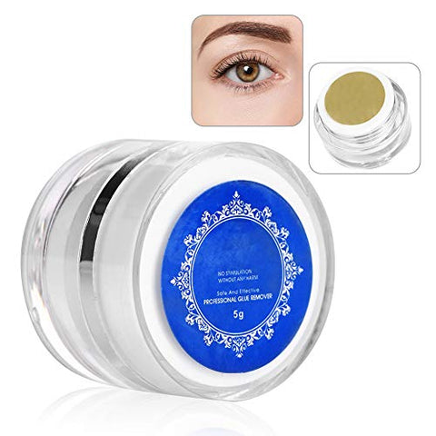 Anself Makeup Remover False Eyelashes Cream of Tools Extensions Eyelashes Cleanser Gentle and Non Irritant 5g