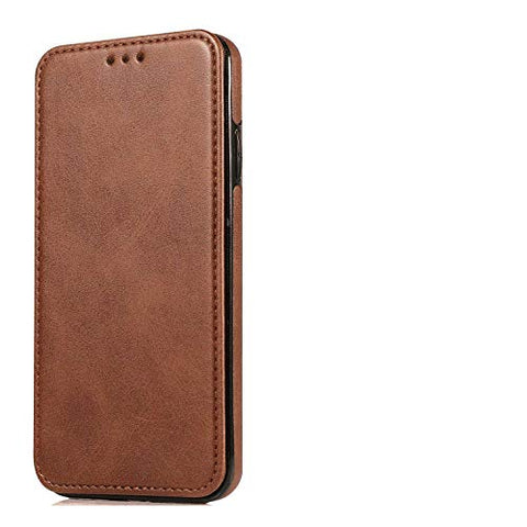 Shockproof Leather Flip Case for iPhone XR, Business Wallet Cover Compatible with iPhone XR Smartphone