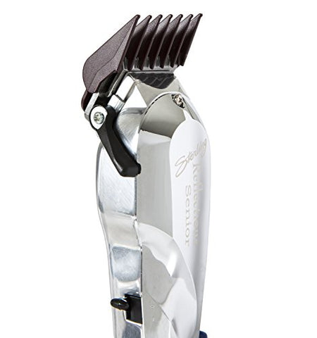 Wahl Professional Reflections Senior Clipper #8501 Classic Clipper with Metal Housing and Chrome Lid Cool Running v9000 Motor for Premium Fades and Blends Great for Barbers and Stylists