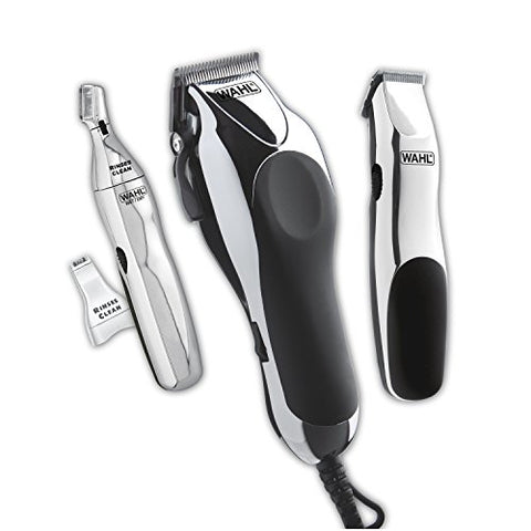 Wahl Clipper Home Barber Kit Model 79524-3001, Electric Clipper, Touch Up Trimmer & Personal Groomer - 30 Piece Kit for Professional Style Haircutting at Home -