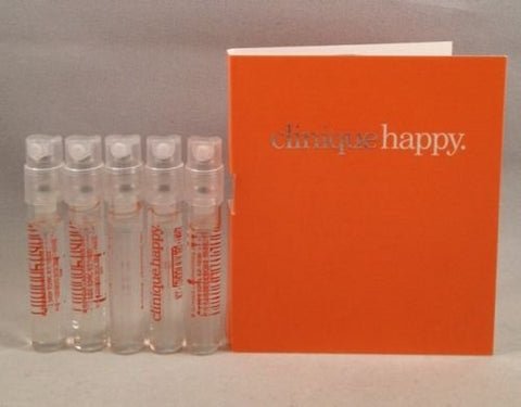 5 Clinique Happy Perfume for Women Spray Sample Vial 0.05 Oz/1.5 Ml Lot