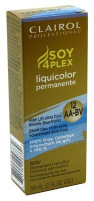 Clairol Professional Liquicolor Permanent 12/Aa-Bv Ultra Cool Blnd-Blu-Violet 2 Ounce (59ml) (2 Pack)