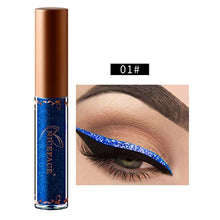 Mr.Macy Hot Sale Beauty Metallic Shiny Smoky Eyes Eyeshadow Waterproof Glitter Liquid Eyeliner (L)