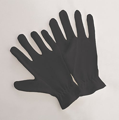 Beauty Care Wear Medium Black Cotton Gloves for Eczema, Dry Skin, Moisturizing - 20 Gloves