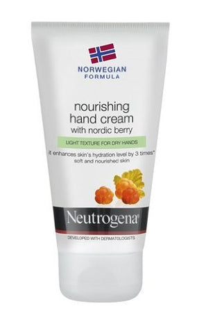 Neutrogena Nordic Berry Hand Cream 3x Hydration - Norwegian Formula 75ml - 3 Count