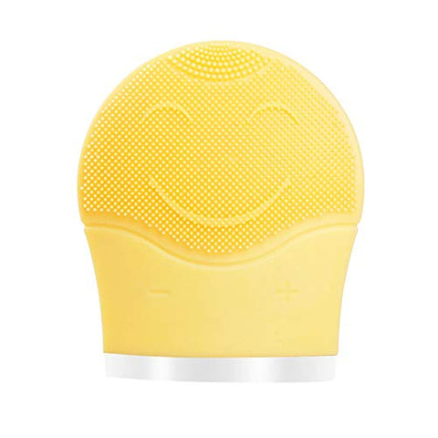 MIJNUX Facial Silicone Electric Cleansing Instrument Waterproof Multifunction Portable USB Rechargeable Beauty Wash Brush,Yellow