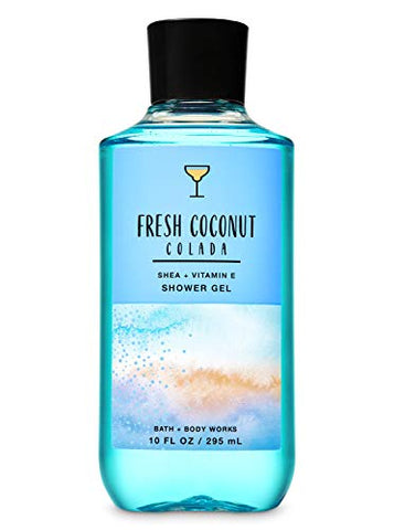 Bath and Body Works Fresh Coconut Colada Deluxe Gift Set - Body Lotion - Body Cream - Fragrance Mist & Shower Gel -Full size