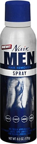 Nair For Men Hair Remover Spray 6 oz (Pack of 4)