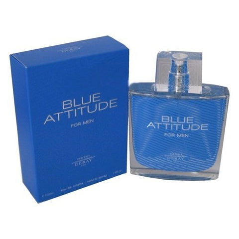Blue Attitude FOR MEN by Parfums Deray - 3.4 oz EDT Spray