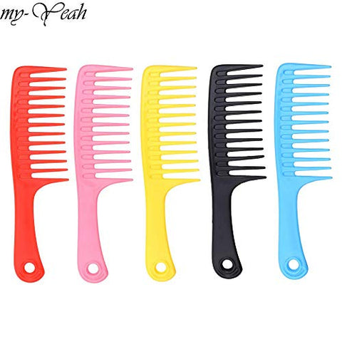 S2e1 4 Colours Extensive Tooth Hairdressing Comb Heat Resistant Woman Wet Detangle Curly Hair Brushes Pro Salon Styling Tools
