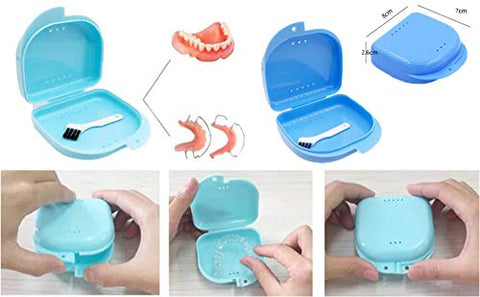 Denture Case Portable False Teeth Storage Box Orthodontics case Denture Container Holder #30