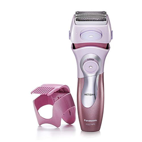 Panasonic Electric Shaver For Women, Cordless 4 Blade Razor, Close Curves,â  Bikini Attachment, Pop