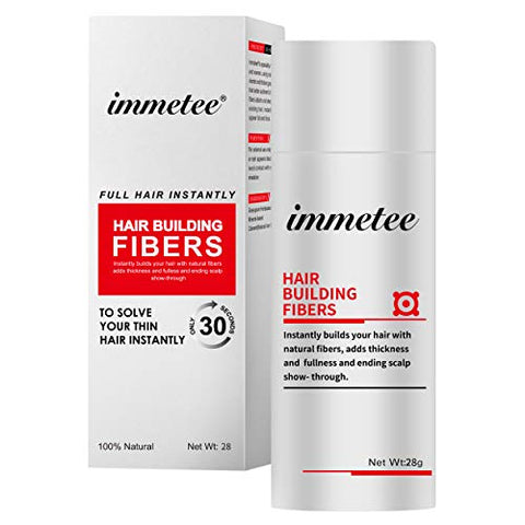 immetee Hair Building Fibers Regrowth Your Hair Instantly 28g (WHITE)