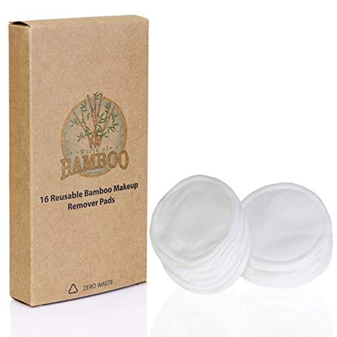 Eco Friendly Reusable Bamboo Makeup Remover Pads