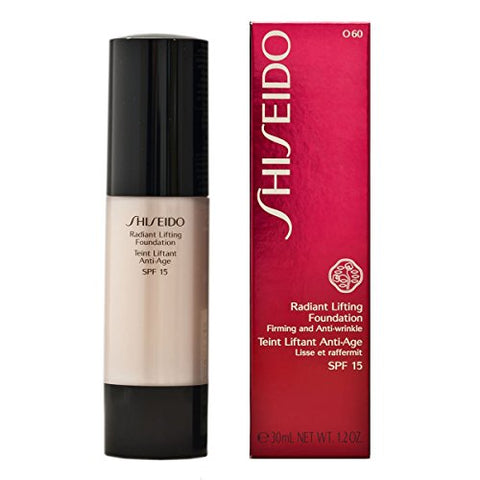 Shiseido 1Oz # O60 Natural Deep Ochre Radiant Firming Anti-Wrinkle Foundation