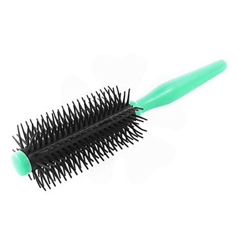 Plastic Hair Salon Round Curling Bristle Handle Wavy Hairstyle Scalp Brush Comb by Uptell