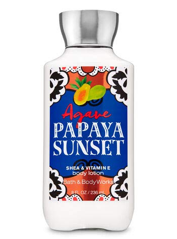 Bath and Body Works AGAVE PAPAYA SUNSET - Gift Set Body Lotion - Fragrance Mist and Shower Gel - Full Size