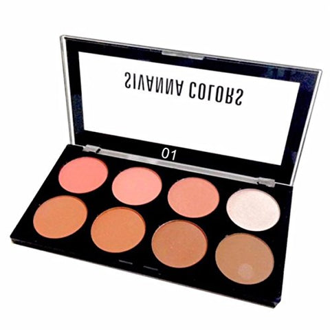 Sivanna Ultra Blush Palatte Blush 8 colors with highlights and shades. (SET 1)