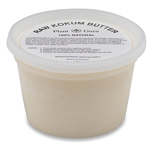 Raw Kokum Butter 16 oz. / 1 lb. Premium 100% Pure Natural Cold Pressed Skin, Body and Hair.