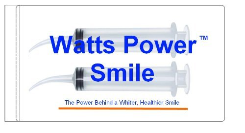 Watts - 2 Large Syringe Oral Irrigators with Tapered Deep Reach Tips for Crowns, Bridges, Oral Pockets and More - 12ml