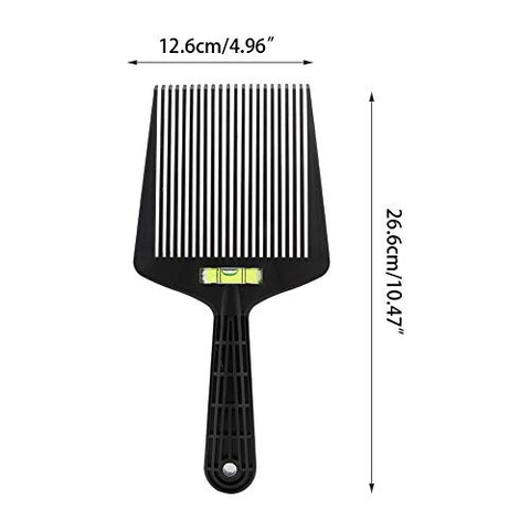 Jinxuny Haircut Level Comb Bang Oil Hair Cutting Angle Adjustment Large Teeth Comb Styling Tool Strong & Durable(Black)
