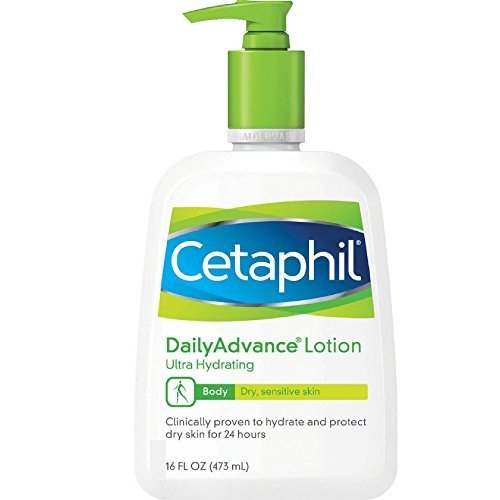 Cetaphil DailyAdvance Ultra Hydrating Lotion for Dry/Sensitive Skin 16 oz (Pack of 6)