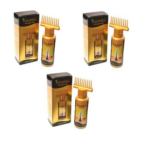 3 X Indulekha Bringha Complete Hair Care Oil 100ml (Pack Of 3)