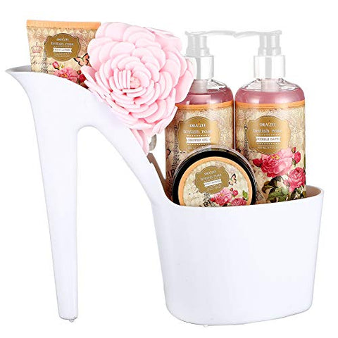 Draizee Spa Home Relaxation Fragrance Bag for Woman Rose Scented Heel Shoe 4 Pieces