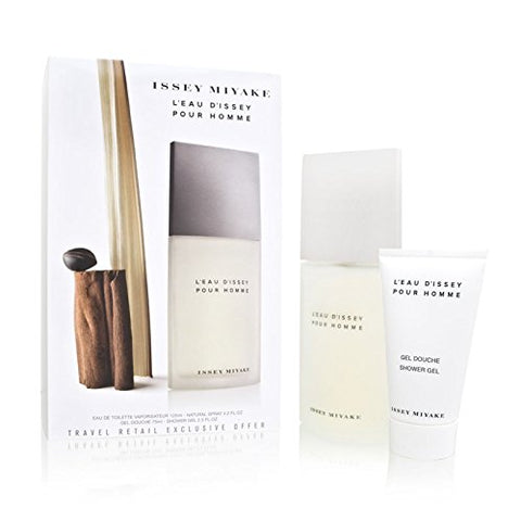 L'eau d'Issey Pour Homme by Issey Miyake 2 Piece Set Includes: 4.2 oz Eau de Toilette Spray + 2.5 oz All Over Shampoo