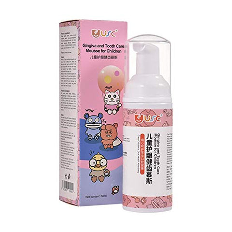 Toothpaste Kids Foam Toothpaste with Strawberry Flavor Suitable for Oral Cleaning and Cavity Prevention 60mL