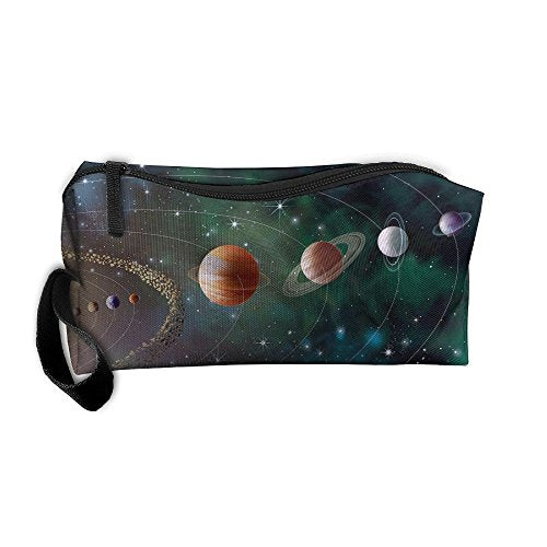 EWSDa Solar System Planets Revolution Cosmetic Bag Unisex Multifunctional Receiving Bag