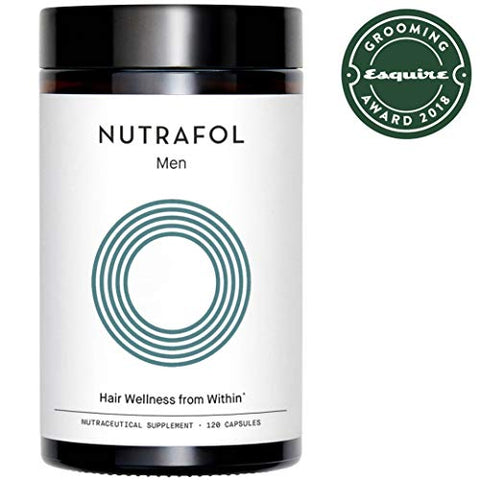 Nutrafol Menâ??S Hair Growth Supplement For Thicker, Stronger Hair (120 Capsules   1 Month Supply)