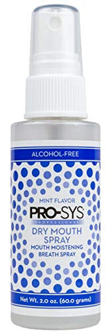 PRO-SYS Dry Mouth Spray, Alcohol-Free, Sugar-Free, Mild Mint, 2 fl. oz. - 1 Bottle