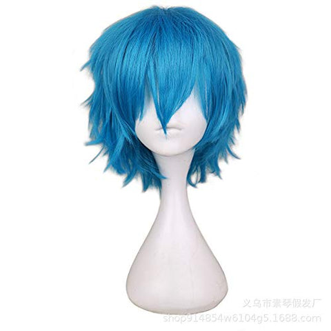 Europe And The United States Cosplay Animation Wig Swin Sand Color Harajuku Anti-War Short Hair