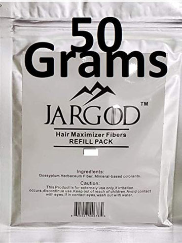 50 Gram JARGOD Hair Building Fibers - Refill Your Existing Fiber Bottle - Hair Filler Fibers - Hair Loss Concealer For Thinning Hair (Gray)