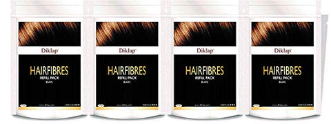 Diklap Hair Building Fiber Refill Pack Hair Concealer) Black (100g)