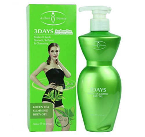 Aichun Beauty 3DAYS Slimming Gel Body Natural Extract Capsicum Green Tea 300ml (GREEN TEA)
