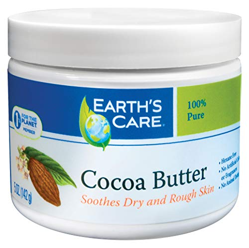 Earth's Care Pure Cocoa Butter, Hexane-Free, No Artificial Colors or Fragrances, Packed in USA 5 OZ.